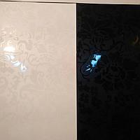 Вагонка пластиковая ПВХ для стен и потолка Ницца ( чёрное или белое )