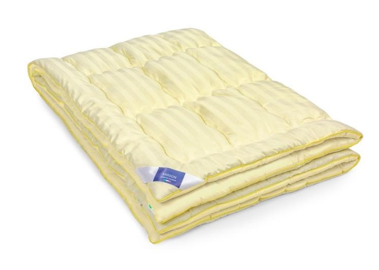 Одеяло шерстяное Полуторное 140х205 ЗИМНЕЕ Carmelal Hand Made Чехол Сатин Italy 0344
