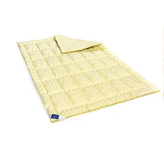 Одеяло шерстяное Полуторное 140х205 ЗИМНЕЕ Carmelal Hand Made Чехол Сатин Italy 0344, фото 2