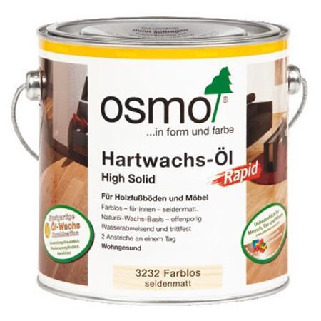 Масло для дерева с ускоренным временем высыхания Hartwachs-Ol Rapid, 3232 шелковисто-матовое 0,75 л