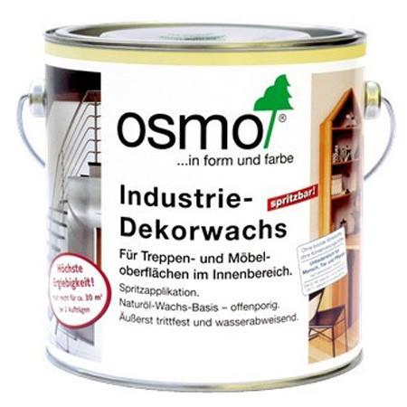 Масло–воск для промышленного применения Osmo Industrie-Dekorwachs 3063 шелковисто-матовое 2,5 л