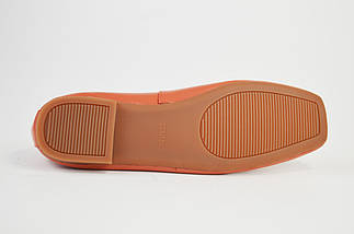 Балетки Berkonty 9003 Коралловые кожа, фото 3