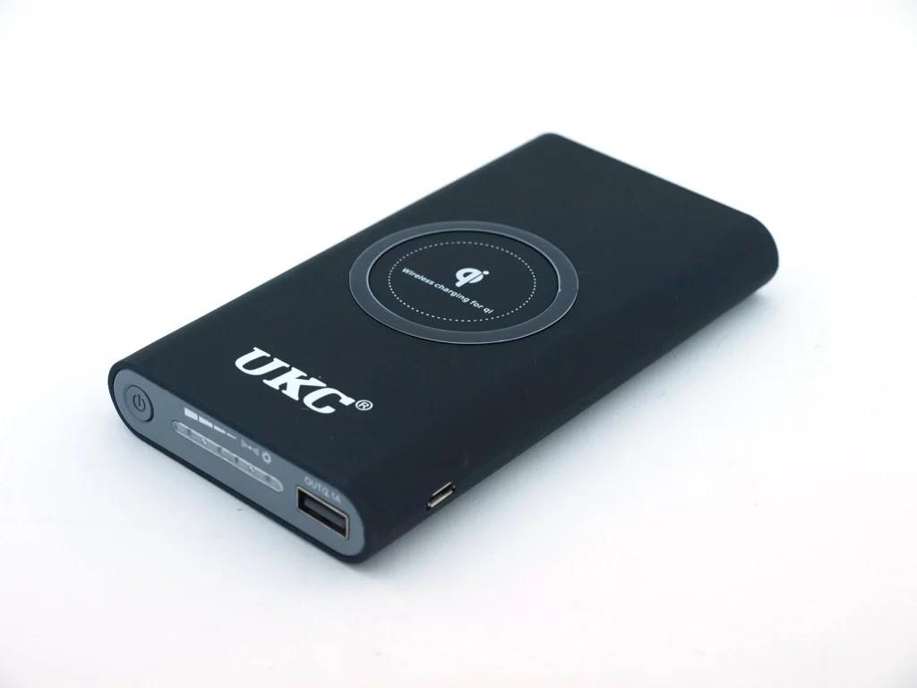 Портативное зарядное устройство с беспроводной зарядкой  Solar Power Bank UKC 20000 МаЧ с солнечной батареей.