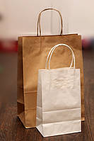 Крафт-пакет с кручеными ручками БЕЛЫЙ (200х120х290мм) A4