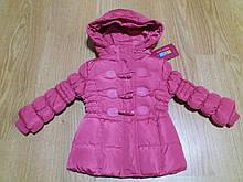 Курточка зимняя для девочки розовая р.80 см.