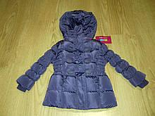 Курточка зимняя для девочки сиреневая р.80 см.