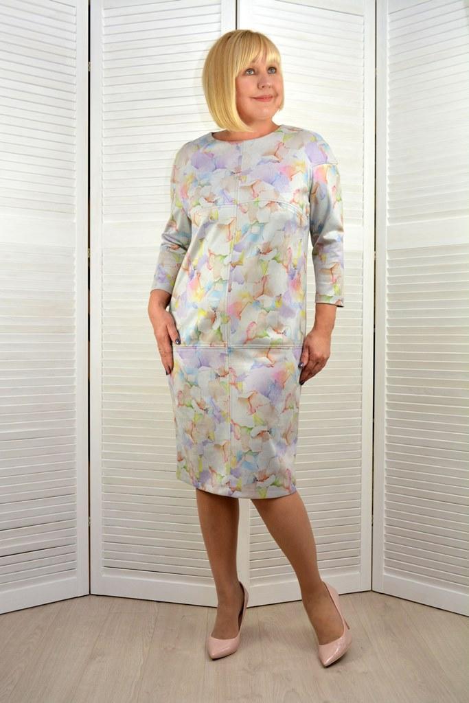 Платье колейдоскоп - Модель ЛМ423-3 ( 48/50 размер )