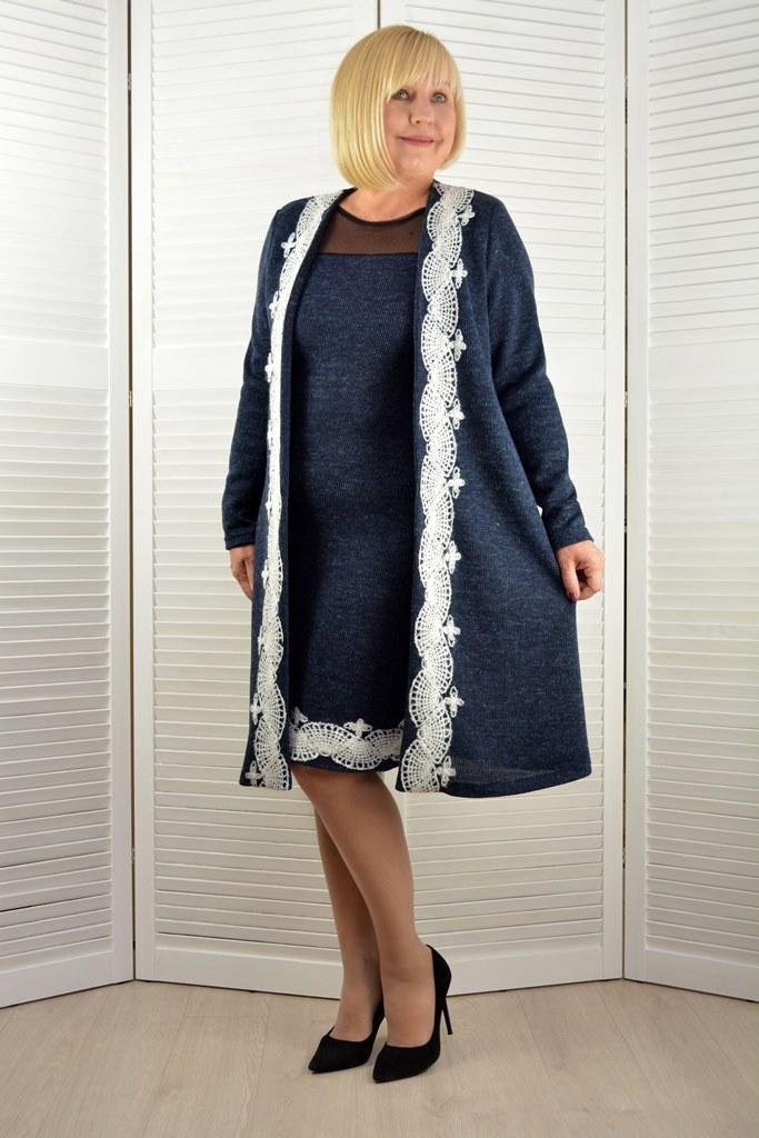 Комплект: Платье и кардиган - Модель Л621-3к ( 50 размер )