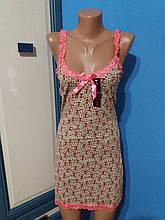 Ночная сорочка женская Котики на бретелях р. 40 (XS)