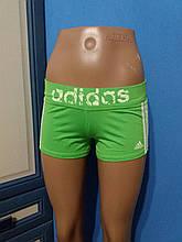 Женские спортивные шорты Adidas салатовые