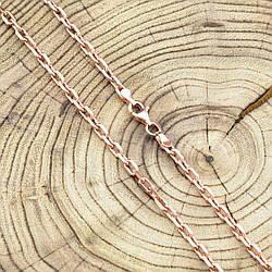 Серебряная цепочка позолоченная Якорная ширина 3.5 мм  длина 50