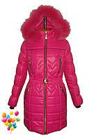 Детская зимняя куртка пуховик на девочку, фото 1
