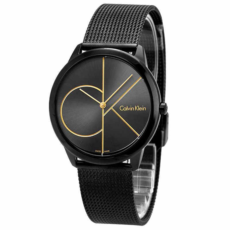 Кварцевые наручные часы Calvinс (Кельвин Кляйн) Черные.Копия.