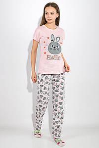 Пижама женская 317F019 цвет Розово-серый