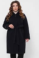Женское шерстяное пальто в больших размерах «Энни» (Синее | 52, 58)