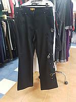 Джинсы батальные черные с вышивкой Giani Forte