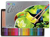 Цветные карандаши Premium серия Artist 36 цветов  Colorino  83270PTR