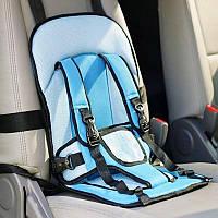 Автокресло детское бескаркасное Child Seats синего цвета