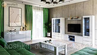 Гостиная Roma / Рома белый глянец Miro Mark модульная система