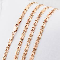 Серебряная цепочка позолоченная Нонна ширина 3.5 мм  длина 55