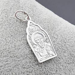 Срібна ікона Святий Спиридон розмір 35х13 мм вага срібла 2.23 г