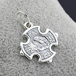 """Серебряный крестик """"Иоанн Предтеча"""", размер 30*22 мм, вес 3.01 г"""