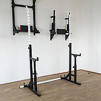 Лавка регульована для жима (до 250 кг) та Стійки з страховкою (до 200 кг). Штанга та гантелі 105 кг, фото 8