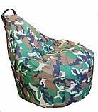 Кресло мешок Люкскомфорт с карманом Хаки, фото 4