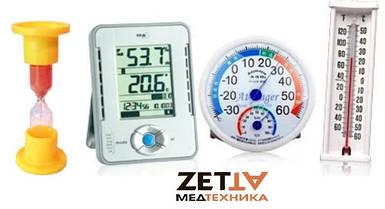 Гигрометры, психрометры, термометры, песочные часы