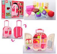 Мебель YY6008 холодильник-чемодан с продуктами - детский игровой набор