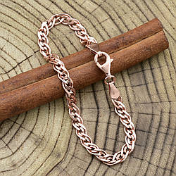 Серебряный браслет позолоченный Нонна ширина 4.5 мм  длина 19