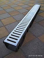 Водоотвод полимерный  с стальной оцинкованной решеткой, фото 1
