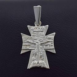 """Серебряный крестик """"Спаси и сохрани"""", размер 32*17 мм, вес 2.87 г"""