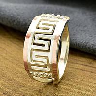 Серебряное кольцо с золотыми пластинами Византия вставка белые фианиты вес 3.6 г, размер 20