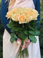 Букет  19 персиковых роз, фото 1