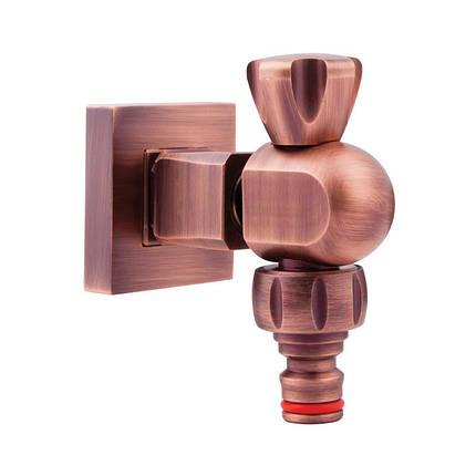 Садовый кран (вентиль) с быстросьемным соединением InGENIUS IG400GB 13128, фото 2
