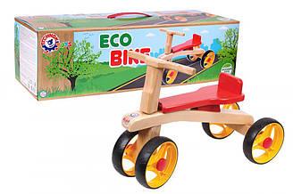 Детский велобег Байк дерево ТехноК 4760 колеса 4 шт