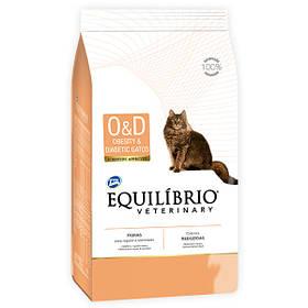 Лечебный корм для кошек Эквилибрио Equilibrio Veterinary Cat при ожирении и диабете 500 г