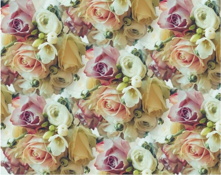 Папір пакувальний для подарунків 70*100 см Троянди