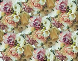 Бумага упаковочная для подарков 70*100 см Розы