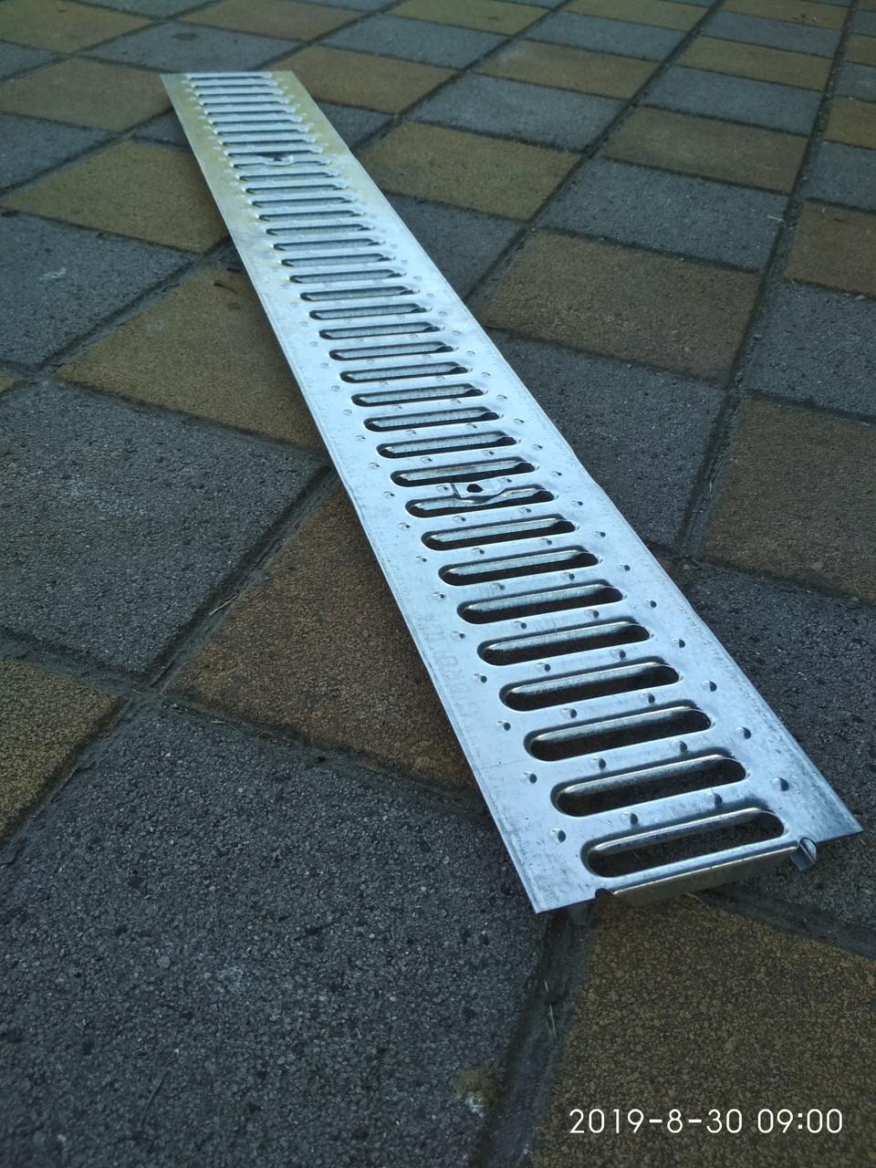 Решетка канала ливневой канализации стальная оцинкованная