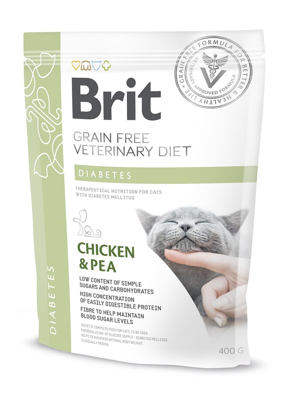 Лікувальний корм для кішок Brit Veterinary Diets Cat Diabets при діабеті 400 г