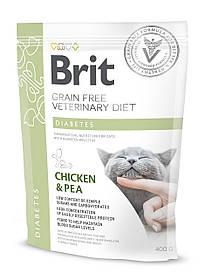 Лечебный корм для кошек Brit Veterinary Diets Cat Diabets при диабете 400 г