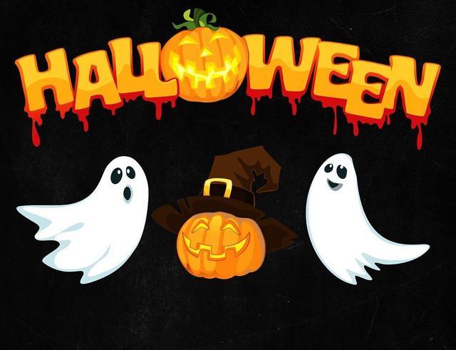 Хэллоуин, скелеты, зубы вампира, кровавые наклейки и татуировки, грим для хеллоуина