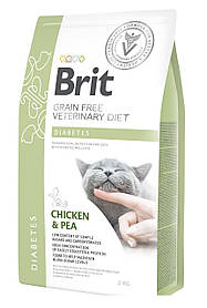 Лечебный корм для кошек Brit Veterinary Diets Cat Diabets при диабете 2 кг