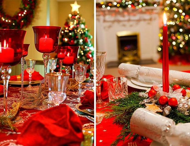 Сервировка праздничного стола, стаканчики, трубочки для коктейлей, тарелки с рисунком