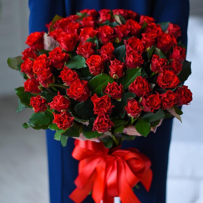 Букет из 51 красной розы Эль торо
