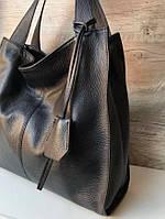 Большая сумка женская через плечо натуральной кожи Италия , Шоппер