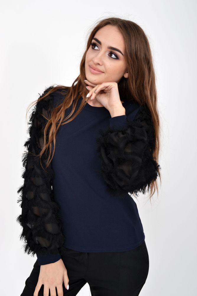 Блуза женская 119R016 цвет Темно-синий