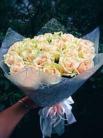 Букет из 35 персиковых роз, фото 1